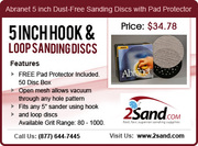 Abranet5 Inch Dust-Free Sanding discs with FREE pad protector