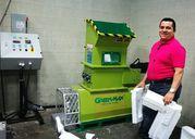 Styrofoam melting machine of GREENMAX Mars C200