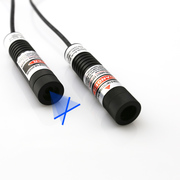 Glass Coated Lens 50mW Blue Cross Line Laser Module