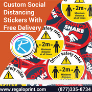 Custom Social Distancing Stickers With Free Delivery – RegaloPrint